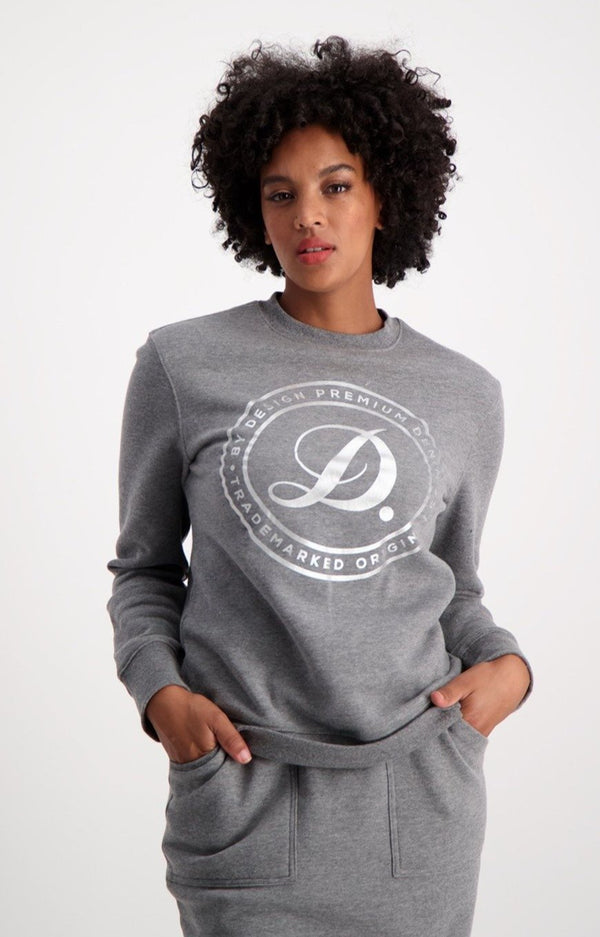 North Side Crew Sweat _ 119385 _ Charcoal Mel