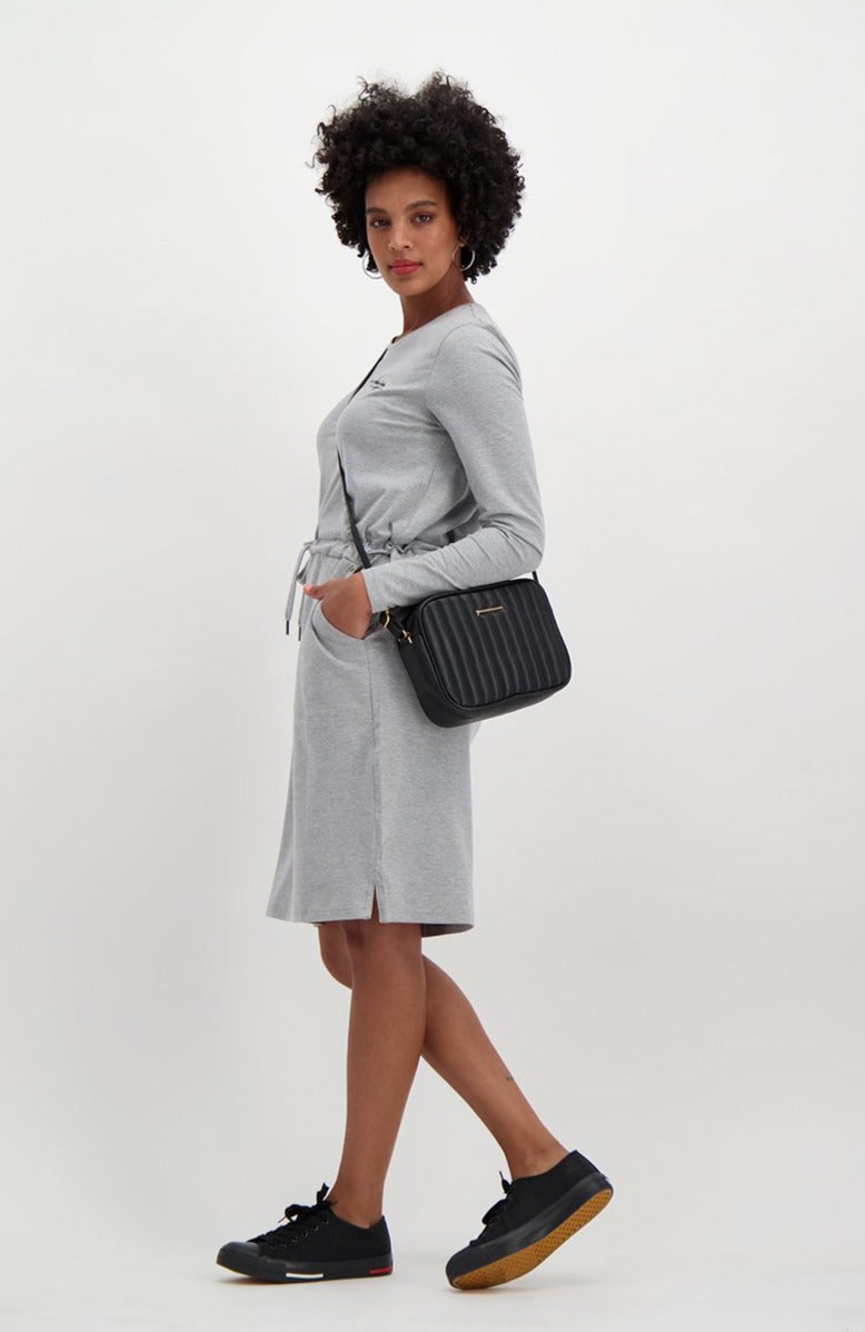 Lori Long Sleeve Dress _ 119460 _ Grey Mel