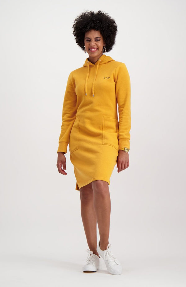 South Street Fleece Dress _ 119461 _ Ocre