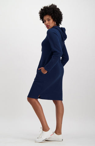 South Street Fleece Dress _ 119464 _ Navy