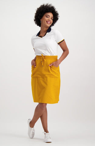 Kelly Sporty A Line Skirt _ 119580 _ Ocre