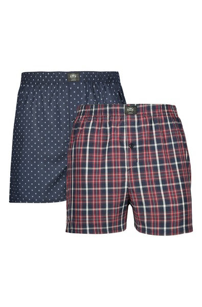 Zaid Woven Boxers _ 119645 _ Navy