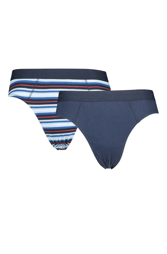 Wesson 2 Pack Stripe Print Brief _ 119772 _ Navy