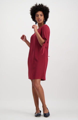 Bienterra Tunic Dress _ 119944 _ Burgundy