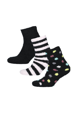 Abby 3 Pack Socks _ 120101 _ Black