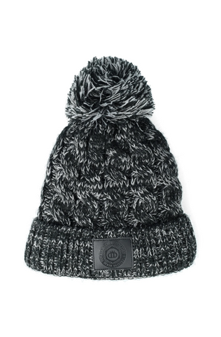 Ted Cable Pom Pom Beanie _ 120588 _ Dark Grey