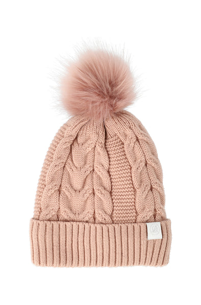 Christy Twist Cable Beanie _ 120726 _ Pink
