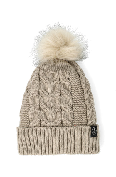 Christy Twist Cable Beanie _ 120727 _ Mocha