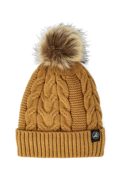 Christy Twist Cable Beanie _ 120728 _ Tan