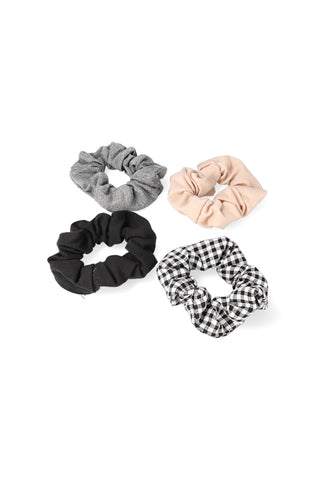 Claire 4 Pack Scrunchies _ 120802 _ Multi