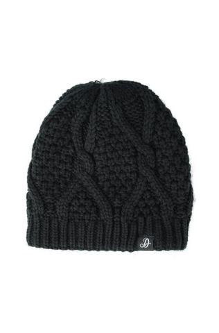 Kinsey Cable Knit Beanie _ 120854 _ Black