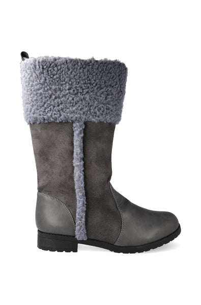 Antelope Fur Lined Long Boot _ 120911 _ Charcoal