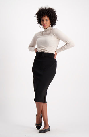 Mary Pencil Skirt _ 121047 _ Black