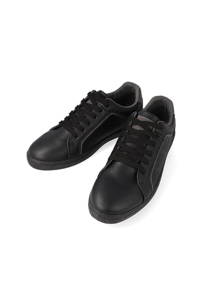 Camden Pu Lace Up Sneaker _ 121135 _ Black