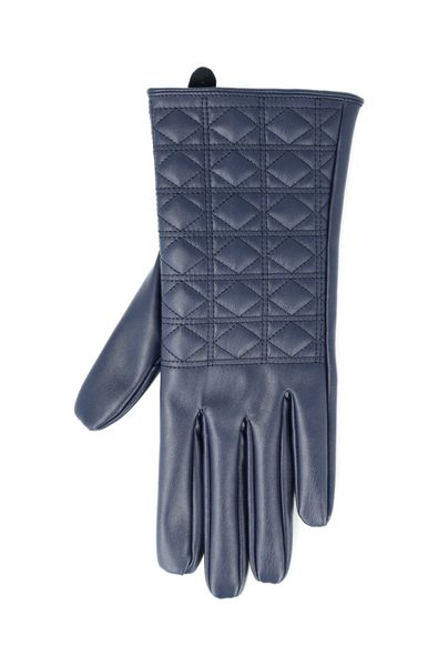 Taylor Quilted Gloves _ 121404 _ Navy