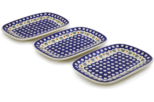 Polish Pottery platter set of 3 Mosquito Theme