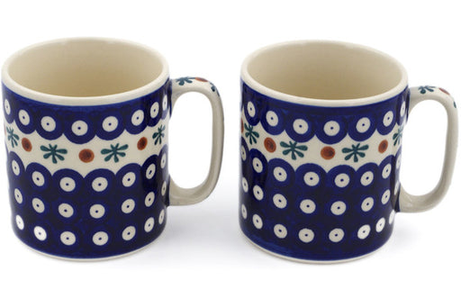 Polish Pottery mug set of 2 Mosquito Theme