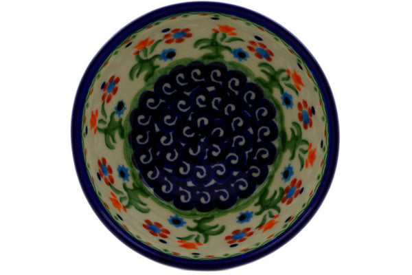 "Polish Pottery Bowl 4"" Spring Flowers Theme"