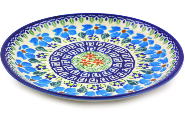 "Polish Pottery Plate 7"" Pansy Morning Theme"