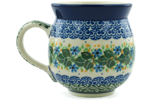 Polish Pottery Bubble Mug 12 oz Aster Wreath Theme