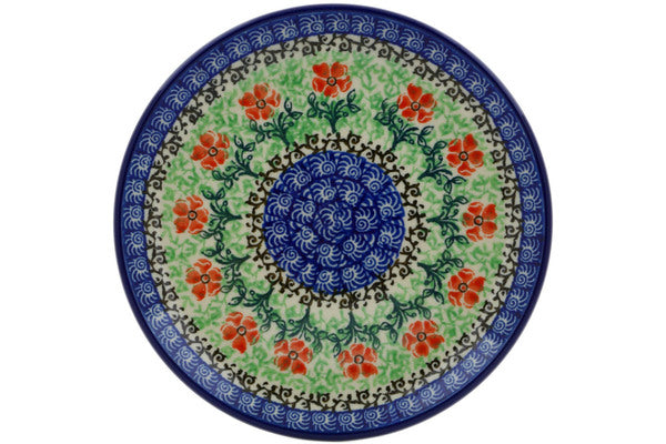 "Polish Pottery Plate 6"" Maraschino Theme"