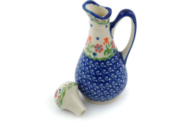 Polish Pottery Bottle 5 oz Spring Flowers Theme
