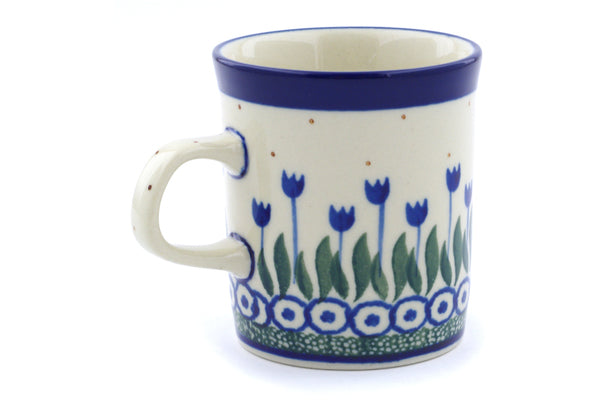 Polish Pottery Mug 5 oz Water Tulip Theme