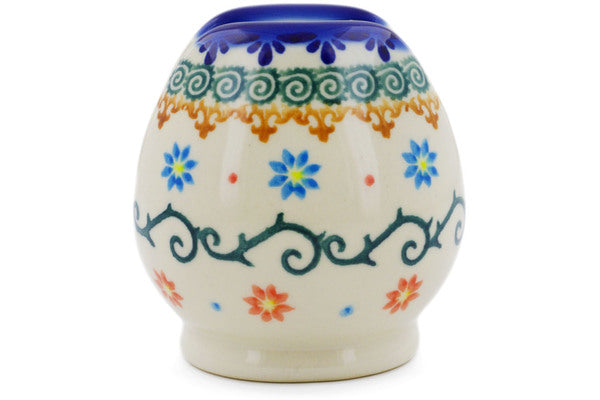 "Polish Pottery Napkin Holder 3"" Sunflower Dance Theme"