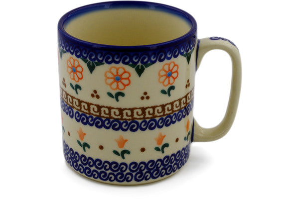 Polish Pottery Mug 12 oz Amarillo Theme UNIKAT