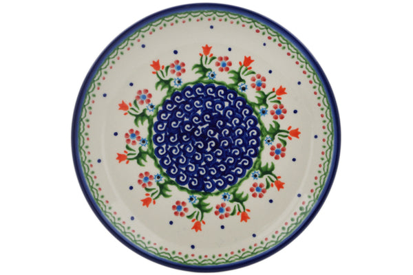 Polish Pottery plates set of 4 Spring Flowers Theme