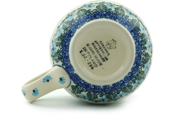 Polish Pottery Bubble Mug 16 oz Forget Me Not Theme