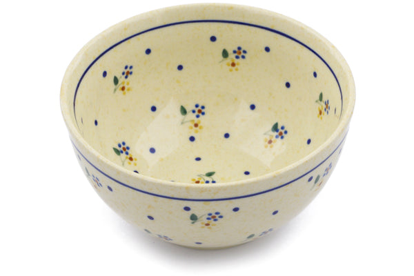 "Polish Pottery Bowl 5"" Country Meadow Theme"