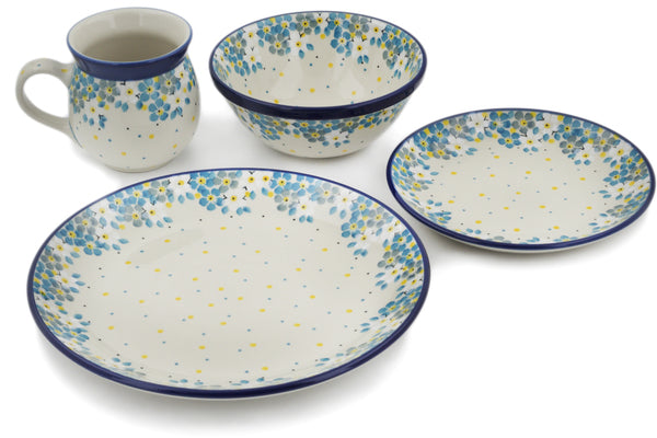 Polish Pottery place setting Flowers Under The Starry Sky Theme