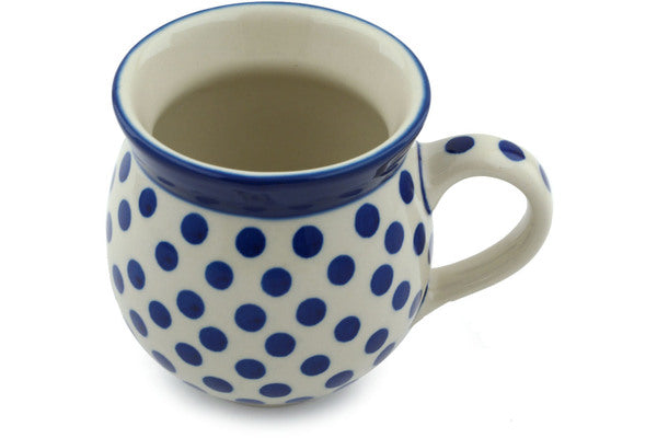 Polish Pottery Bubble Mug 12 oz Polka Dot Delight Theme