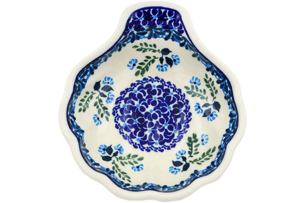 "Polish Pottery Condiment Server 5"" Spring Bunch Theme"