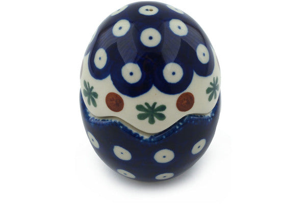 "Polish Pottery Salt and Pepper Set 3"" Mosquito Theme"