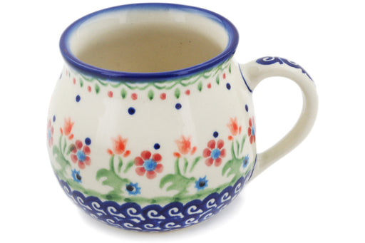 Polish Pottery Bubble Mug 8 oz Spring Flowers Theme