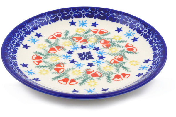 "Polish Pottery Plate 7"" Wreath Of Bealls Theme"