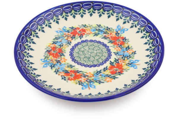 "Polish Pottery Plate 7"" Ring Of Flowers Theme"