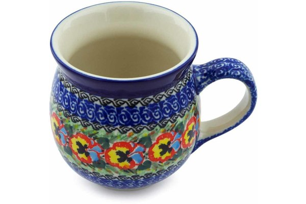 Polish Pottery Bubble Mug 16 oz Superb Motif Theme UNIKAT