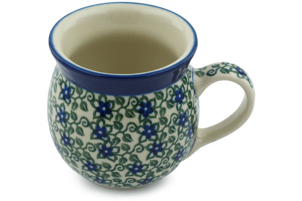 Polish Pottery Bubble Mug 8 oz Lobelia Vines Theme