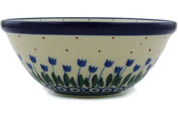 "Polish Pottery Bowl 5"" Water Tulip Theme"