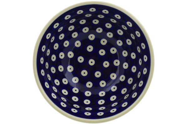 "Polish Pottery Bowl 7"" Peacock Eyes Theme"