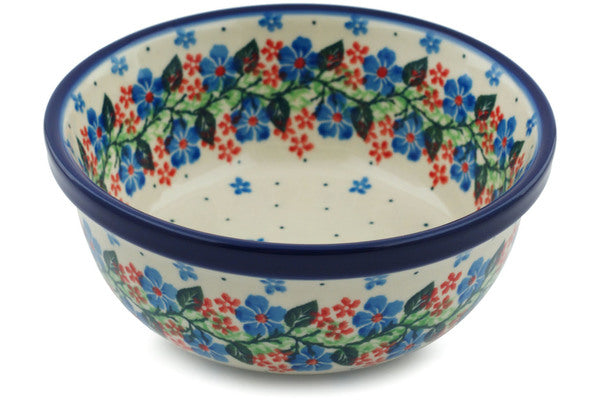 "Polish Pottery Bowl 6"" Summer Wreath Theme"