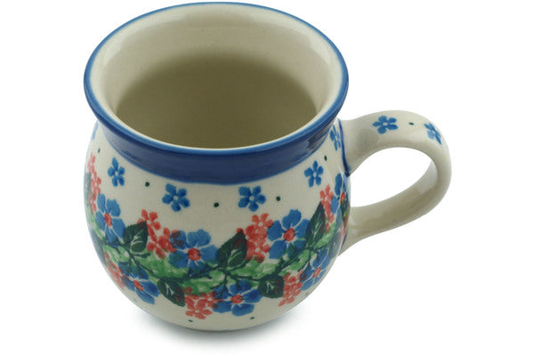 Polish Pottery Bubble Mug 8 oz Summer Wreath Theme