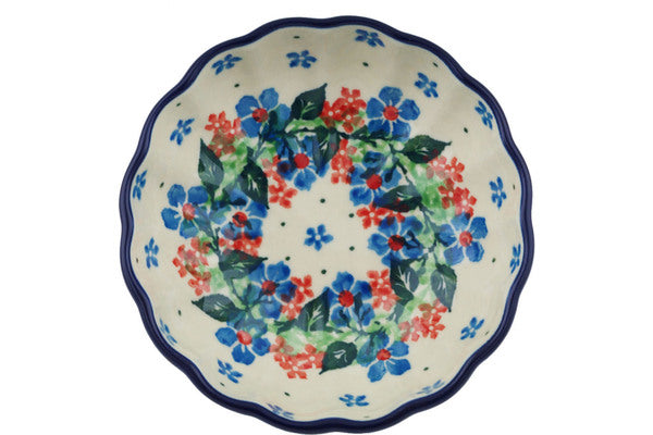 "Polish Pottery Bowl 5"" Summer Wreath Theme"