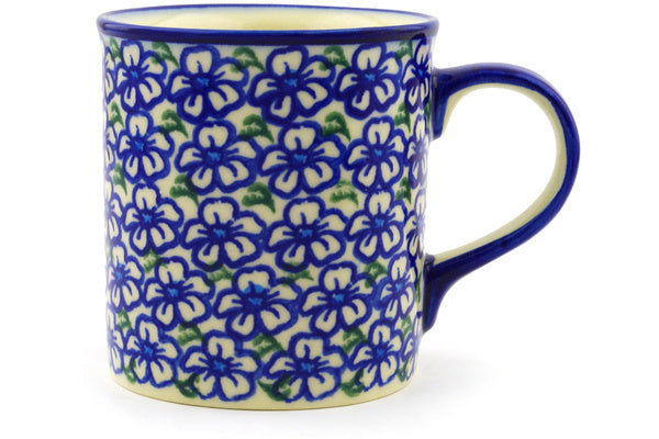 Polish Pottery Mug 8 oz Fields Of Glory Theme