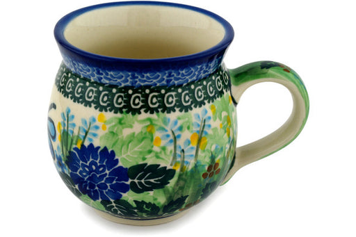 Polish Pottery Bubble Mug 12 oz Garden Delight Theme UNIKAT