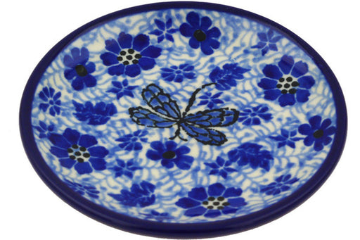 Polish Pottery Mini Plate Misty Dragonfly Theme