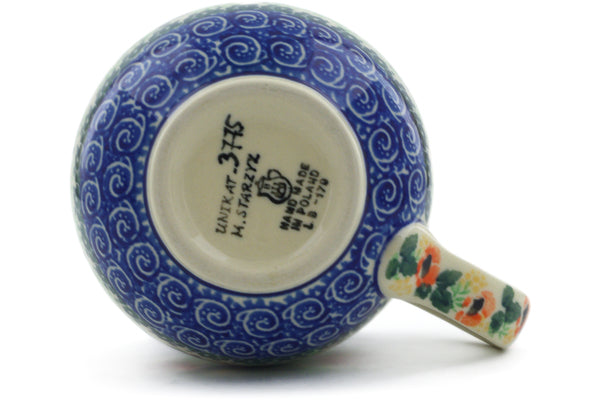 Polish Pottery Bubble Mug 12 oz September Meadow Theme UNIKAT